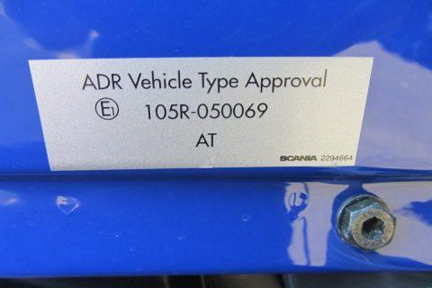 ADR odobritev vozila